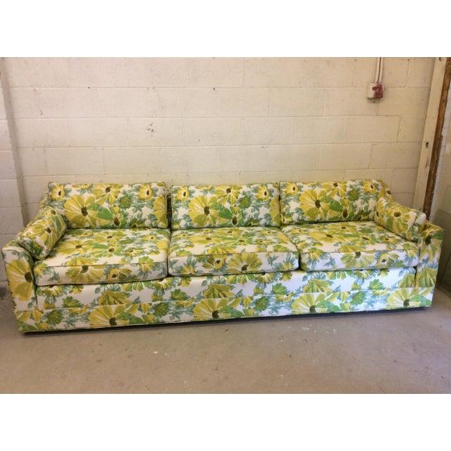 1970s Palm Beach Regency Style Floral Print Sofa Chairish