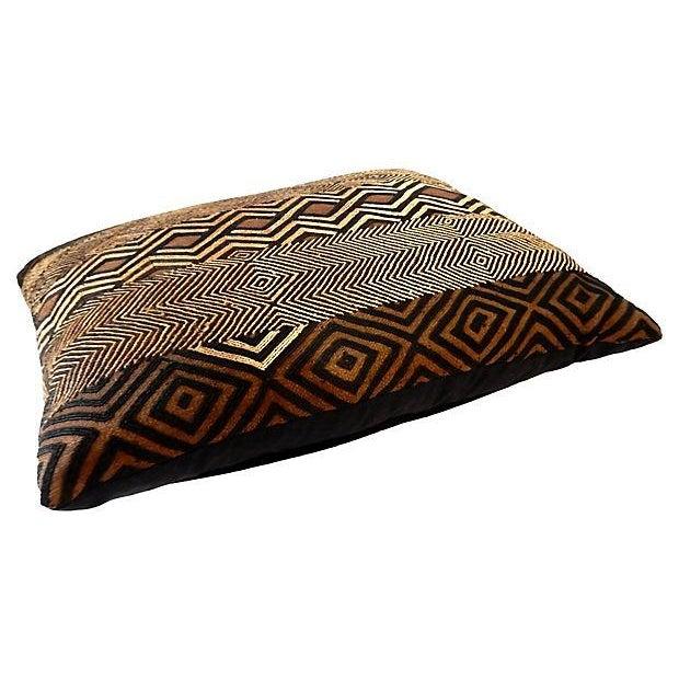 African Kuba Raffia Pillow - Image 3 of 7