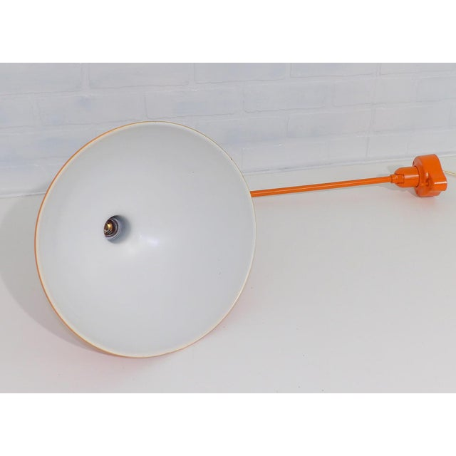 Mid-Century Modern Industrial Metal Wall Lamp - Image 3 of 9