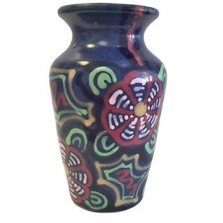 Vintage Mid-Century German Multi Color Vase