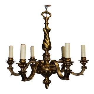 Antique chandelier, gilt bronze