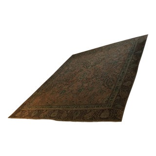 """Antique Persian Vegetable Dyed Wool Hunting Rug - 9' x 11'6"""""""