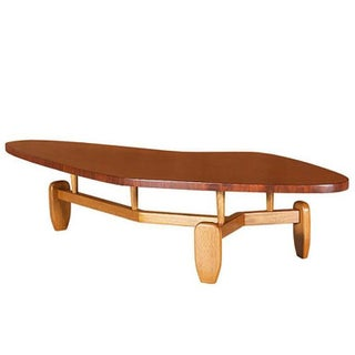 "John Keal for Brown Saltman ""Outrigger"" Floating Top Coffee Table"