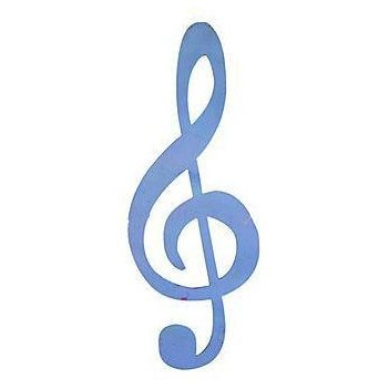 Image of Large Blue Metal Musical Note
