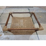 Image of Vintage Bamboo & Danish Cord Glass Top Table