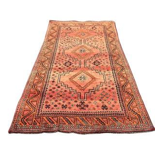 Vintage Persian Tribal Ornate Geometric Rug - 4′9″ × 10′1″