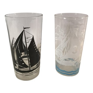 Mid-Century Sailing Glasses - A Pair