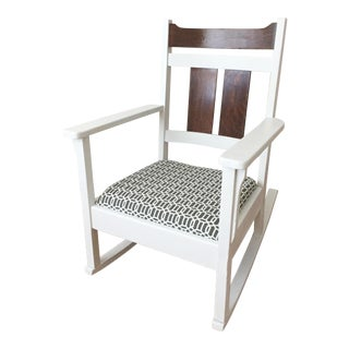 Modern Craftsman Style Rocking Chair