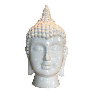 Ceramic Asian Buddha Head