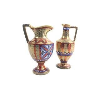 Italian Lusterware Vessels - A Pair