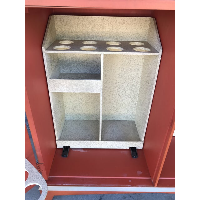 Vintage Chinoiserie Bar Cabinet - Image 8 of 11