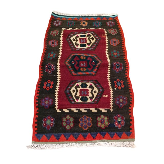 "Vintage Turkish Anatolian Kilim - 1'9"" X 3'5"" - Image 1 of 5"