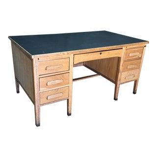 Wooden Rustic Seven-Drawer Desk