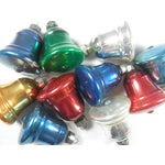 Image of Multi-Colored Glass Bell Ornaments - Set of 10