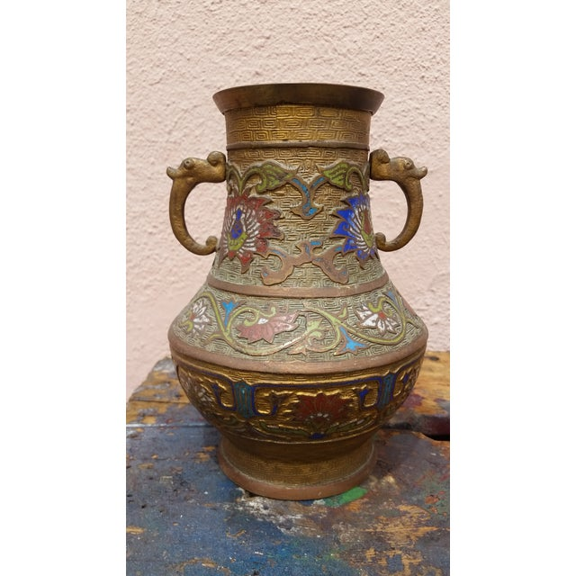 Japanese Vintage Inlaid Vase - Image 2 of 6