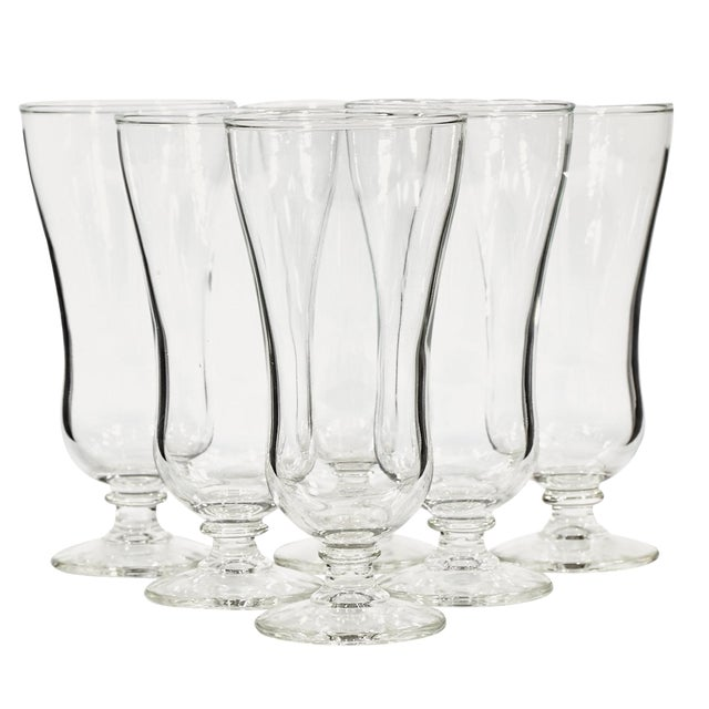60s Clear Parfait Glass Stems - Set of 6 - Image 1 of 4