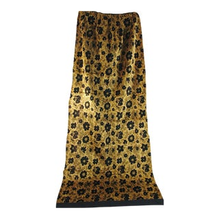 Luscious Gold & Black French 1920s Cotton Silk Velvet Drapes (4)