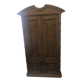 Vintage Thomasville Oak Armoire