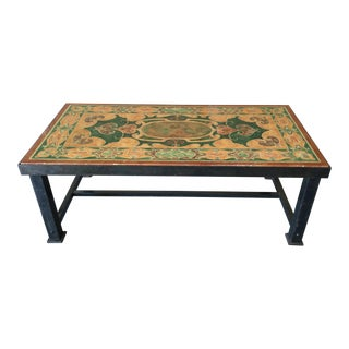 French Painted Marble Coffee Table