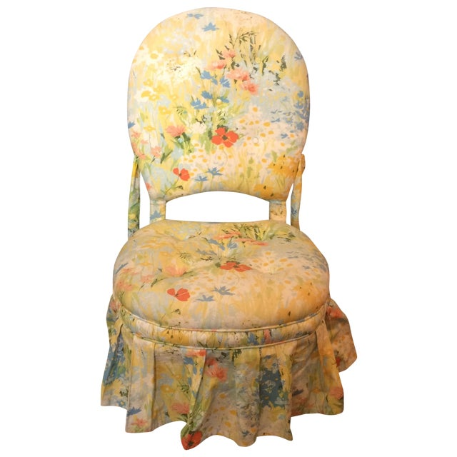 Vintage Floral Folding Chair - Image 1 of 9