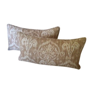 Duralee Ikat Lumbar Pillow Covers - A Pair