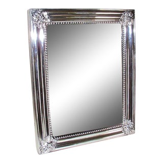 19th Century English Silver Plated Frame Mirror