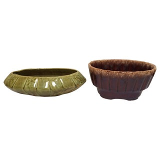Mid-Century Modern USA Made Pottery - A Pair