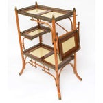 Image of 19th C,Brass, Wood and Bamboo Bar and Side Table