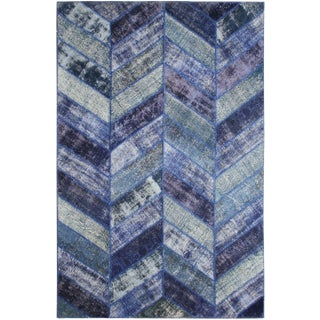 "Aara Rugs Inc. Hand Knotted Patchwork Rug - 10'2"" X 6'8"""