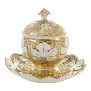 Antique German Gold Encrusted Bowl