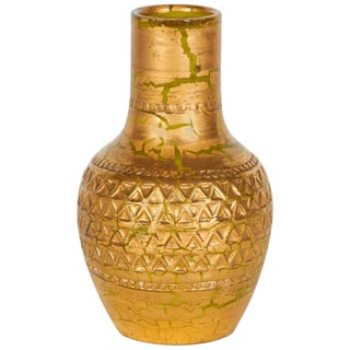 Gold Splash Vase by Aldo Londi for Bitossi
