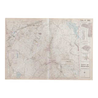 Vintage 1930s Bedford Center NY Bedford Hills Map