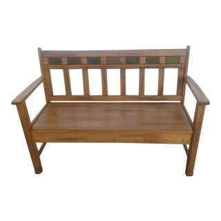 Sedona Bench with Storage & Wood Seat
