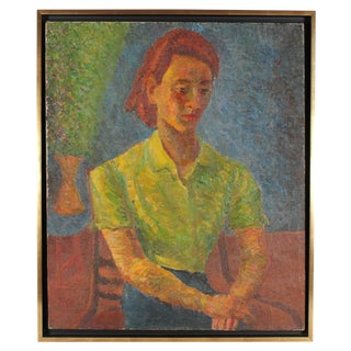 Late 1940s Portrait Oil Painting