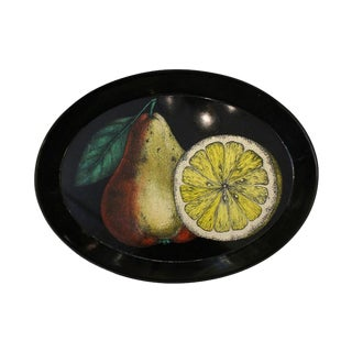 Decorative Piero Fornasetti Oval Tray, Italy, 1950s