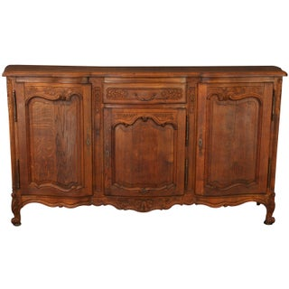 1930s French Rococo Oak Sideboard