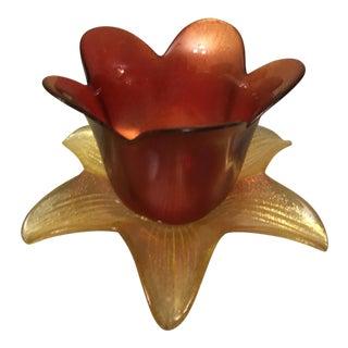 Floriform Crystal Vase