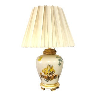 Chinoiserie Style Floral & Botanical Table Lamp