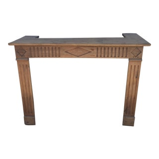 French Walnut Mantle