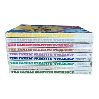 Vintage Colorful Styling Decorative Creative Hardback Books - Set of 9