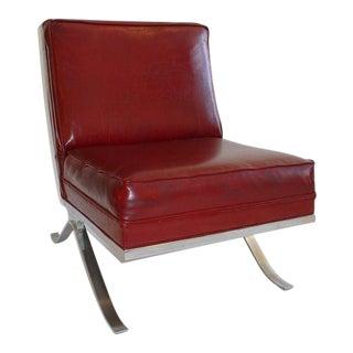 Chrome Slipper Chair