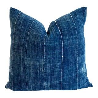 Vintage Mossi Indigo Textile Pillow