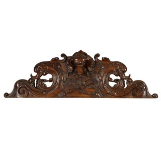 Antique Carved Hunting Lodge Relief