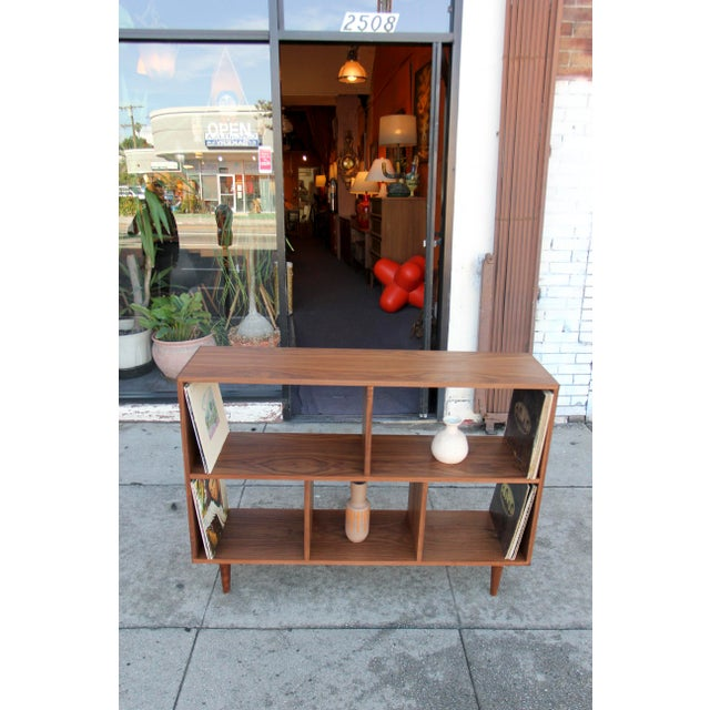 Modern Walnut Bookcase Shelf - Image 8 of 10