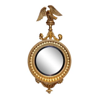 Period America Early 19th Century Federal Convex or Bullseye Mirror