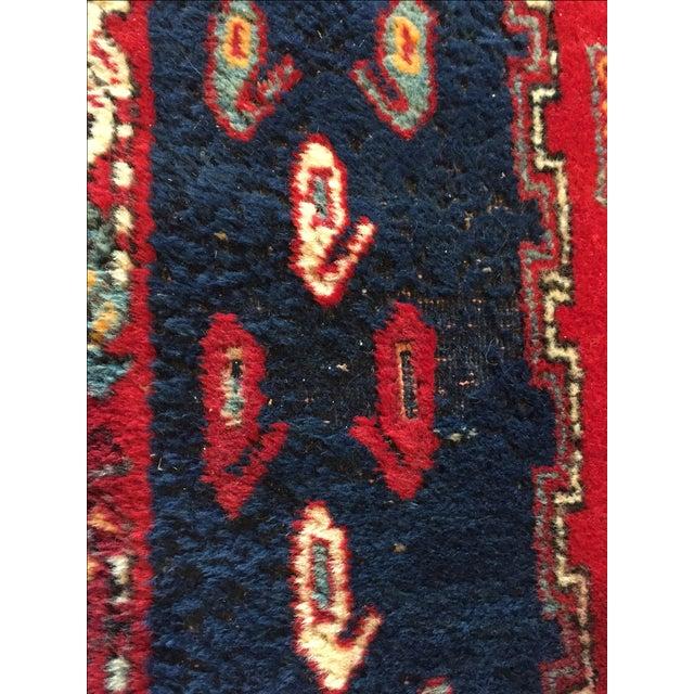 Vintage Ornate Kazak Persian Rug - 5' x 6' - Image 9 of 10