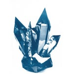 Image of Blue Geometric Crystals Cyanotype Print
