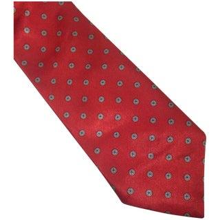 Vintage Red Beau Brummell Poly Silk Tie