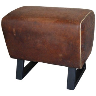 German Leather Gymnastic Goat Bench