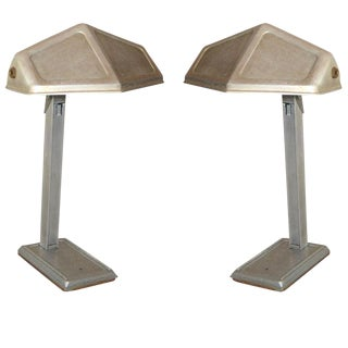 Pair of French Modernist Desk Lamps by Pirette